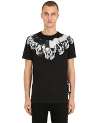 Philipp Plein - Print & Embellished Skull Cotton T-shirt - Lyst