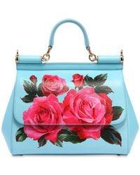 Dolce & Gabbana - Medium Sicily Roses Printed Leather Bag - Lyst