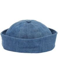 6e0b5e3f11d Beton Cire - Handmade Cotton Denim Sailor Hat - Lyst