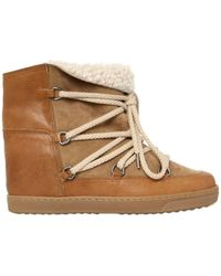 Isabel Marant   70mm Nowles Shearling Wedged   Lyst