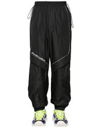 Juun.J - Pantaloni In Nylon Con Zip - Lyst