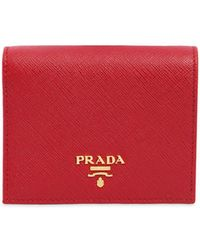 f110d302e082 Prada - Small Leather Wallet - Lyst