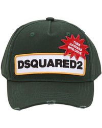 DSquared² - Patch Cotton Baseball Hat - Lyst