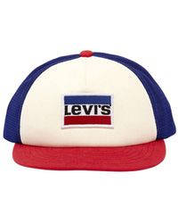 Levi's - Logo Canvas & Mesh Trucker Hat - Lyst
