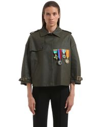 Stella Jean - Embellished Cotton Military Jacket - Lyst