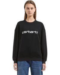 Carhartt - Logo Embroidered Cotton Blend Sweatshirt - Lyst