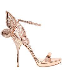 Sophia Webster - 120mm Chiara Metallic Leather Sandals - Lyst