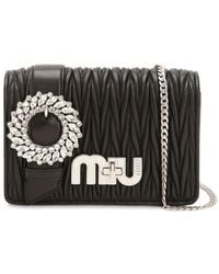 Miu Miu - Med My Miu Buckle Quilted Leather Bag - Lyst