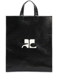 Courreges - Logo Patch Vinyl Tote Bag - Lyst