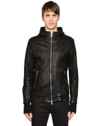 Giorgio Brato - Hooded Leather Jacket W/ Sleeve Zips - Lyst