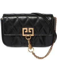 6da83c0eea Givenchy  pandora  Mini Crinkle Leather Bag in Pink - Lyst