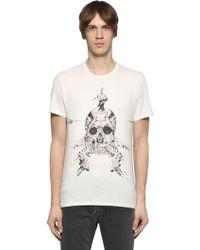 Just Cavalli - Printed Cotton Jersey T-shirt - Lyst