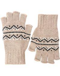 Maison Margiela - Wool Jacquard Knit Fingerless Gloves - Lyst