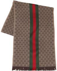 Gucci - Sciarpa In Lana E Seta - Lyst