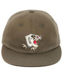 Maharishi - Tiger Embroidered Canvas Baseball Hat - Lyst