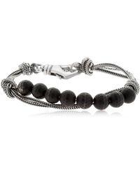 Emanuele Bicocchi - Onyx & Silver Chain Bracelet - Lyst
