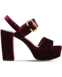 Prada - 110mm Velvet Platform Sandals - Lyst