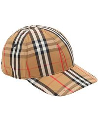 Burberry - Vintage Check Cotton Baseball Cap - Lyst 0a172855bf01