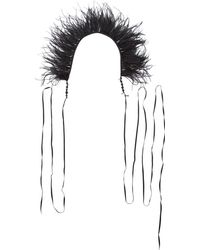 Ann Demeulemeester - Feather Boa Necklace - Lyst