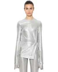 Paco Rabanne - Top In Jersey Stretch - Lyst