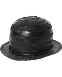 Move - Striped Patchwork Leather Bowler Hat - Lyst