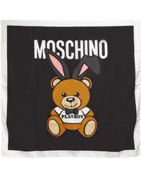 Moschino | Teddy Playboy Silk Twill Scarf | Lyst