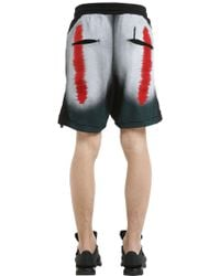 Boris Bidjan Saberi 11 - Distortion Print Cotton Jersey Shorts - Lyst