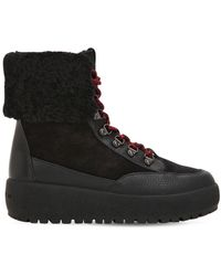 COACH - 40mm Tyler Suede & Leather Hiking Boots - Lyst