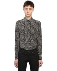 Saint Laurent - Yves Bandana Printed Silk Shirt - Lyst