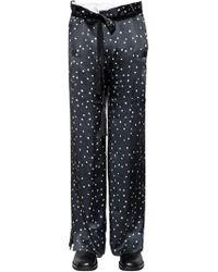 Ann Demeulemeester - 31.5cm Polka Dot Printed Silk Pants - Lyst