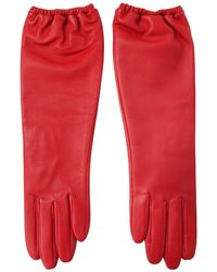 Aristide - Long Nappa Leather Gloves - Lyst
