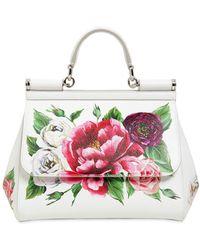 Dolce & Gabbana - Medium Sicily Floral Printed Leather Bag - Lyst