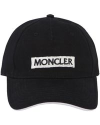 Moncler - Cappello In Cotone Ricamo Logo - Lyst