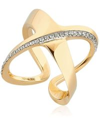 Antonini - Siracusa Crisscross Diamond Ring - Lyst