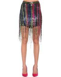 Amen - Fringe Sequined Mini Skirt - Lyst