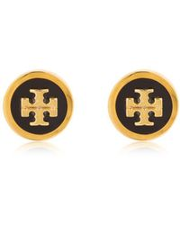Tory Burch - Logo Stud Earrings - Lyst