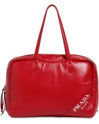Prada - Large Nappa Puffed Top Handle Bag - Lyst