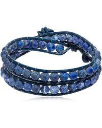Colana - Lapis Lazuli Beads Wrap Bracelet - Lyst