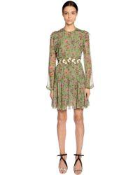 Giambattista Valli - Floral Printed Silk Georgette Dress - Lyst