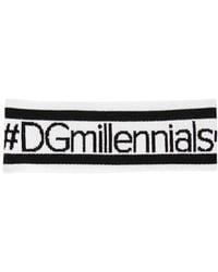 Dolce & Gabbana - Dgmillenials Jacquard Wool Headband - Lyst