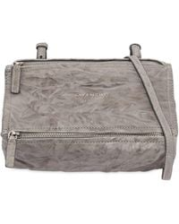 58e55ca6408f Givenchy - Mini Pandora Washed Leather Shoulder Bag - Lyst