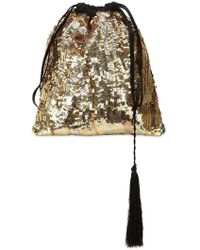Attico - Gold Sequined Pouch - Lyst