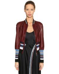 Sportmax | Leather Bomber Jacket | Lyst