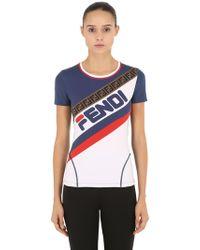 """Fendi - """"Camiseta De Lycra """""""" Mania"""""""""""" - Lyst"""