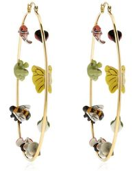 Nach - Big Hoop Earrings With Animals For Lvr - Lyst