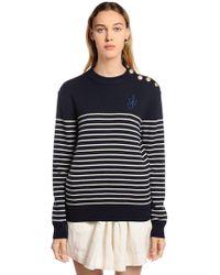 JW Anderson - Striped Fine Merino Wool Knit Sweater - Lyst