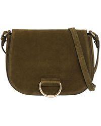 Little Liffner - Medium Saddle Suede Shoulder Bag - Lyst