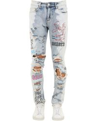 Lifted Anchors - Slim Capulet Destroyed Denim Jeans - Lyst