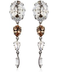 On Aura Tout Vu - Rain Crystal Earrings - Lyst