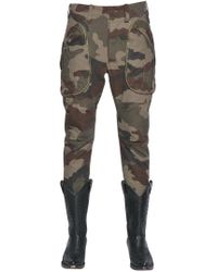 Faith Connexion - Cotton Camouflage Cropped Cargo Trousers - Lyst